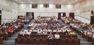 Platéia no Auditório do Seminário no sábado